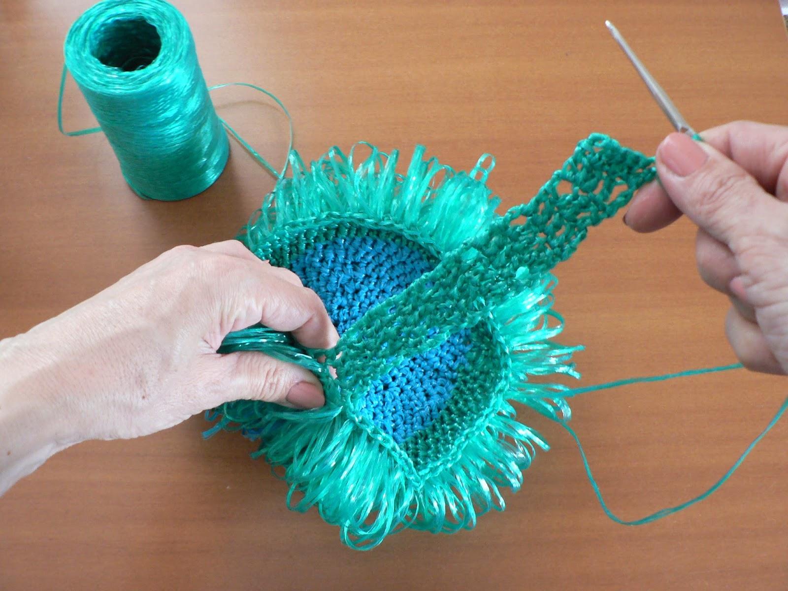 Вязание детских мочалок игрушек
