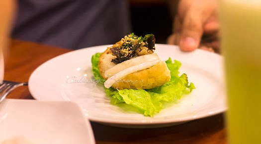 Bahn Mi Hap - steamed baguette with minced chicken meat