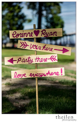 Rustic wedding direction sign l Theilen Photo l Take the Cake Event Planning