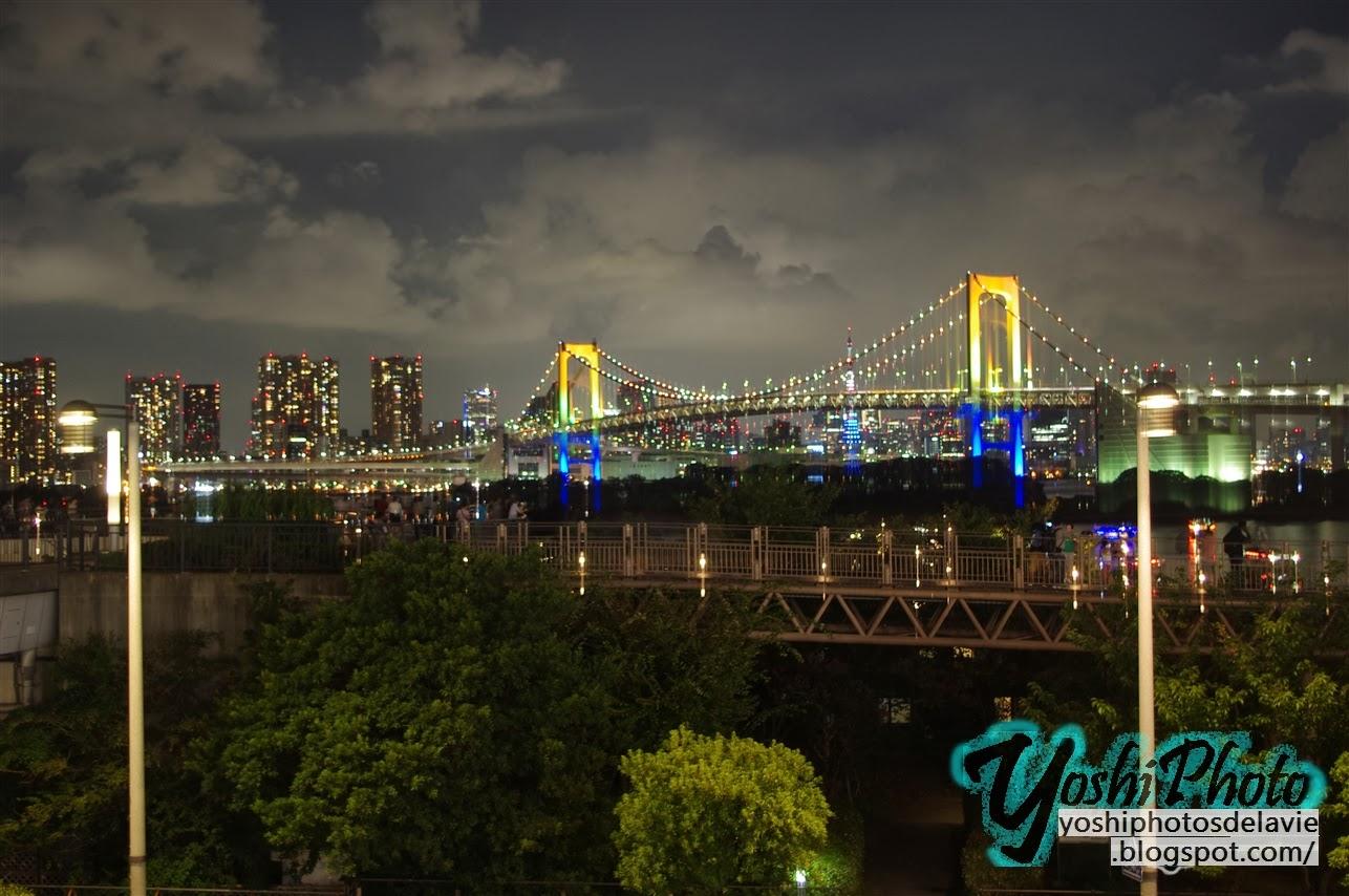 Odaiba Night View, Rainbow Bridge お台場から見るレインボー