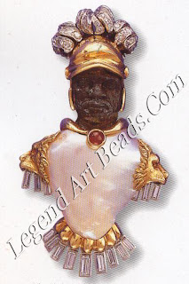 The Gladiator Blackamoor with large baroque pearl diamonds and a ruby c. 1960.