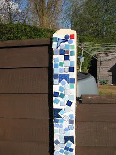 Decorated garden post