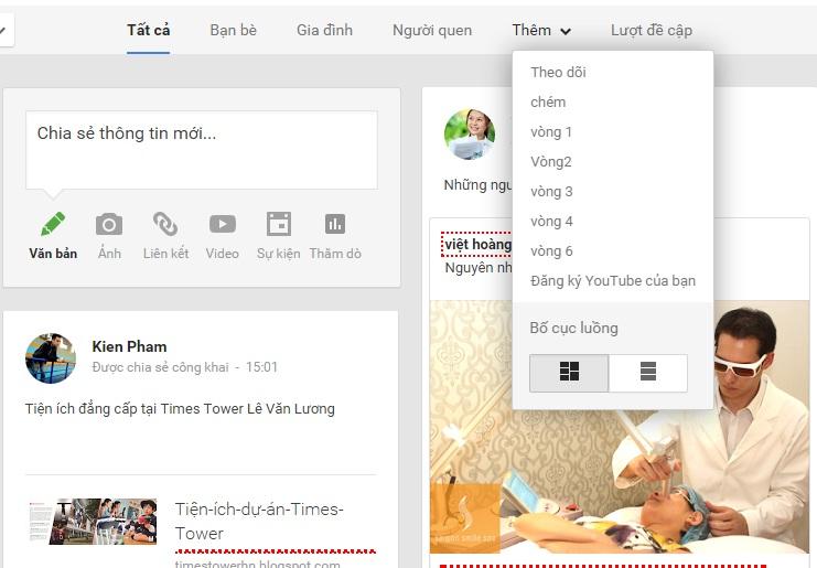 Xây dựng vòng kết nối Google+ 1