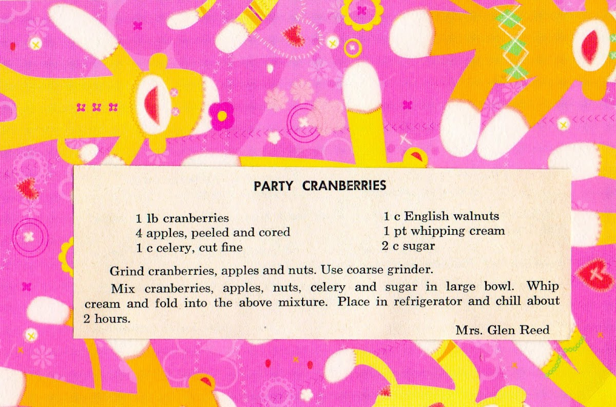 Party Cranberries (quick recipe)