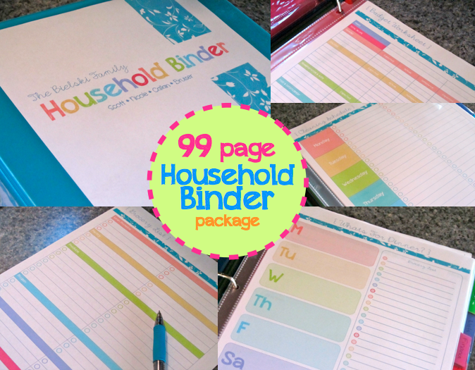 The Household Binder package includes everything you need to organize ...