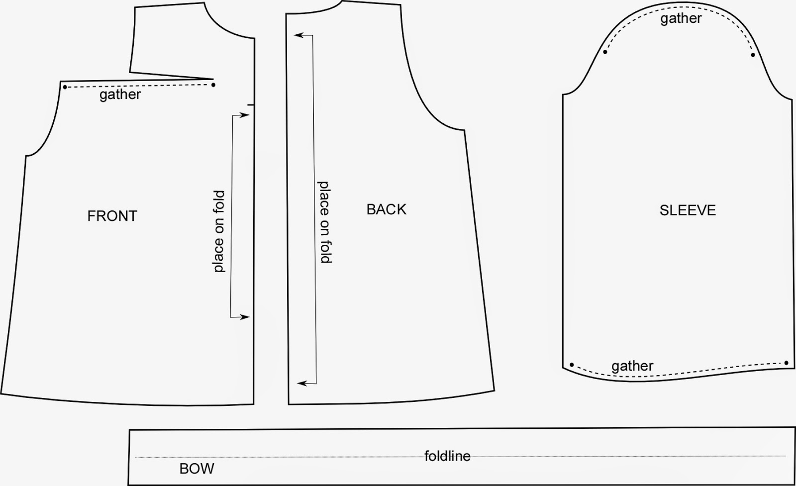 how to draft a gathered dart blouse