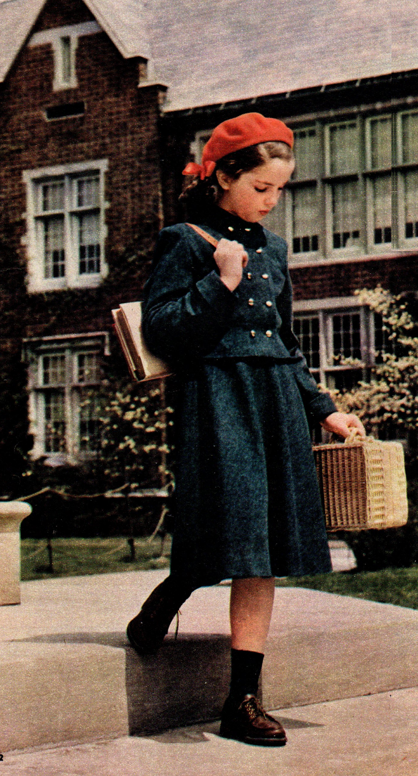 The Midvale Cottage Post Back to School Elementary School Fashion from 1949