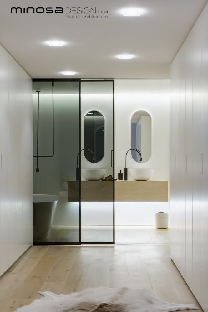 Minosa clean simple lines slick bathroom design by minosa for Bathroom planner australia