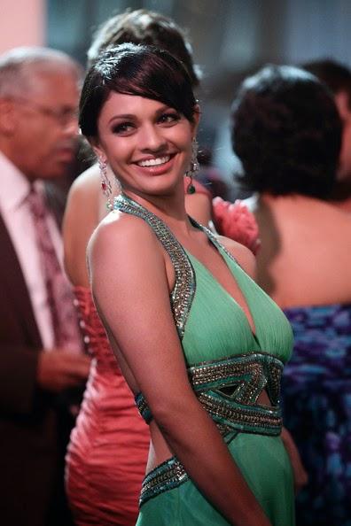 Pooja Kumar in a Silver Yellow Dress Spicy Pics