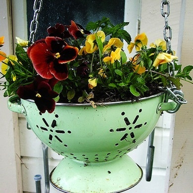 Colander Planter Pot #planter #outdoorplanter #planterboxes #outdoor @SimplyDesigning