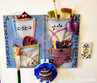 ideias para reciclagem de jeans usado e reciclado