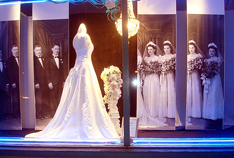 wedding shop window