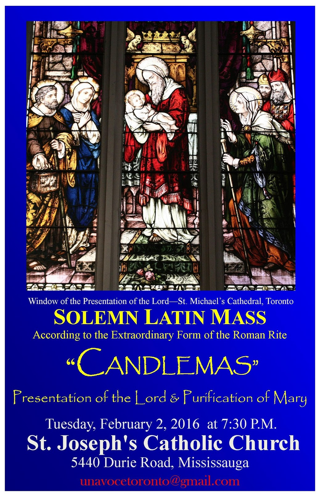 Toronto Traditional Mass Society Solemn Candlemas