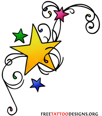 simple star tattoo designs