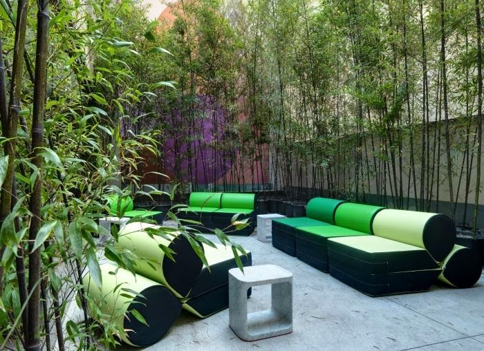 A bamboo privacy fence