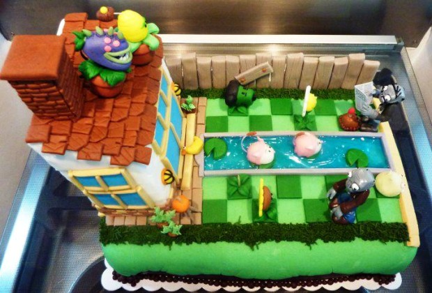 Pastel de plantas vs. zombies | La Guarida Geek