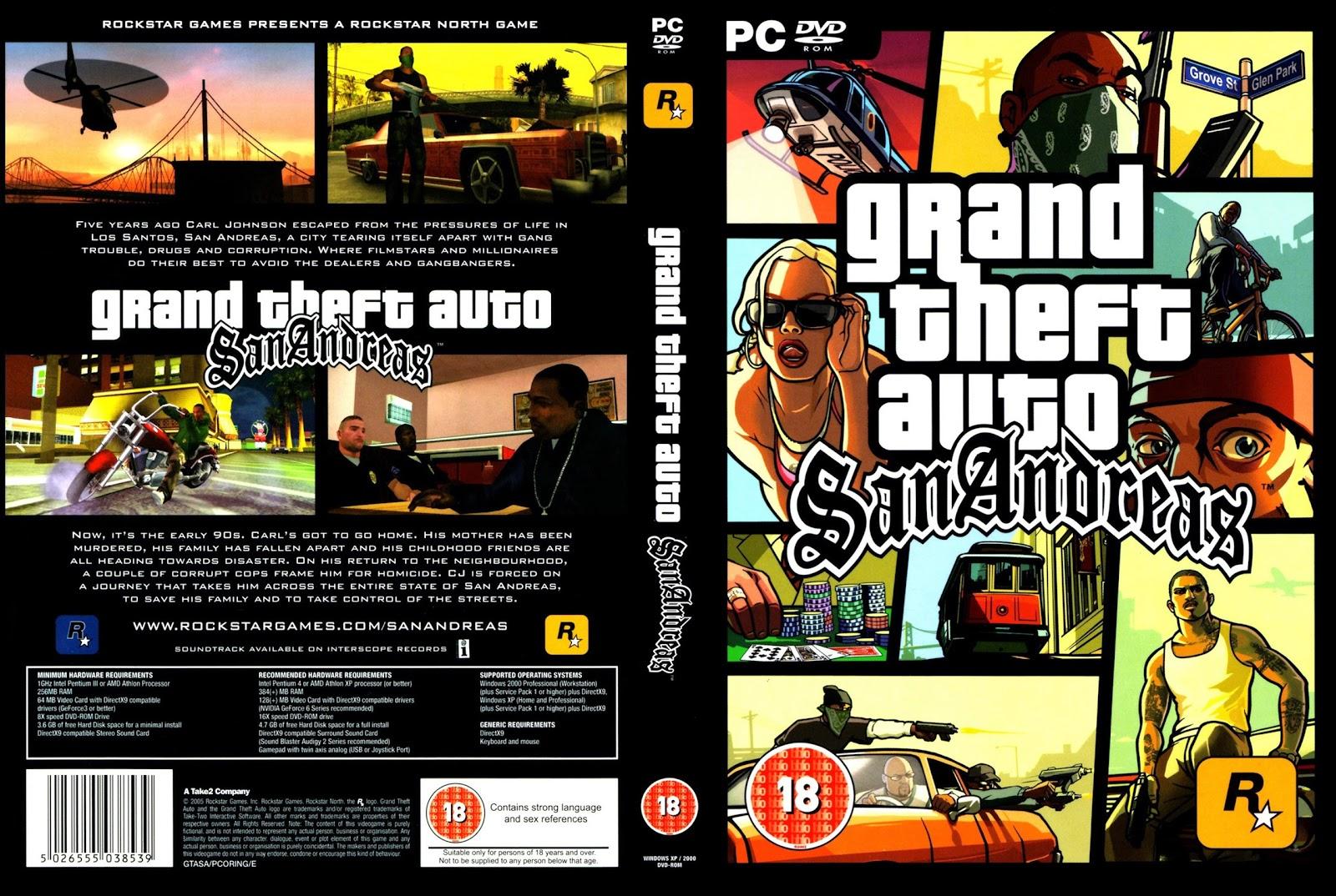GTA : San Andreas pc capa