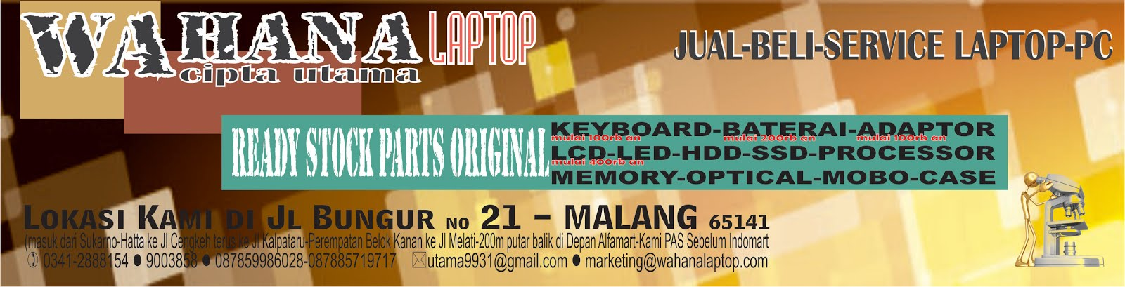 Wahana Cipta Utama - Laptop Bekas | Notebook Bekas | Laptop Second | Notebook Second