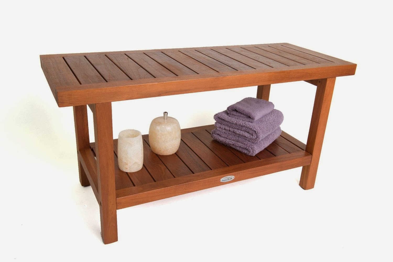Great Ideas Teak Shower Bench Solid Bath Chair