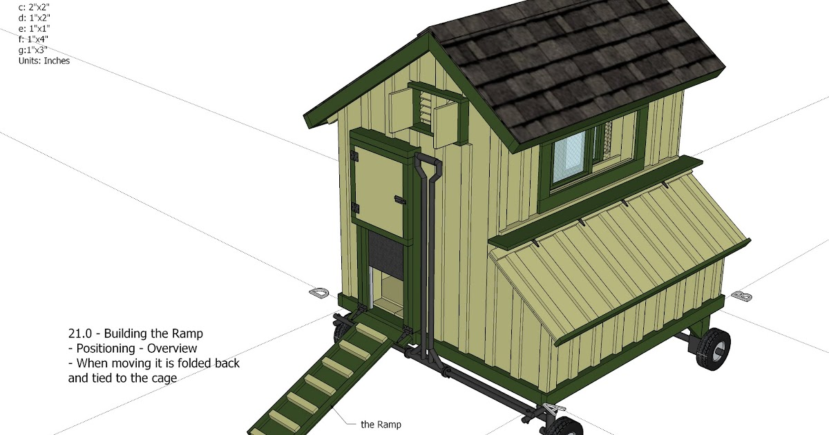 Just coop mobile chicken coop plans free info for Mobile chicken coop plans