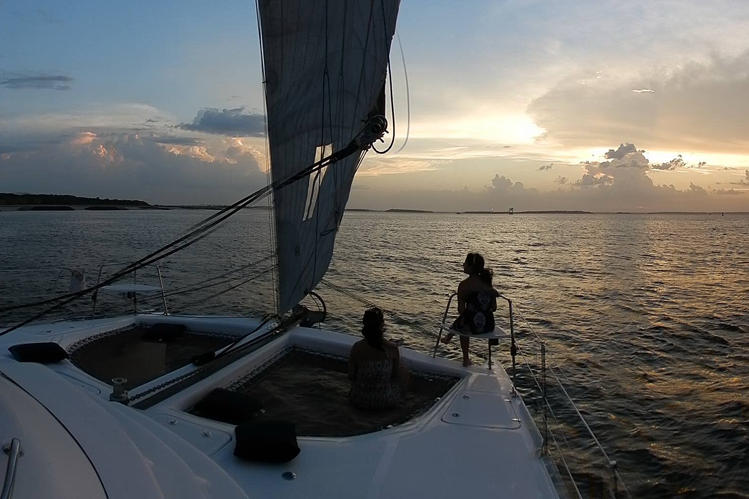 Sailing on Now and Zen private charters