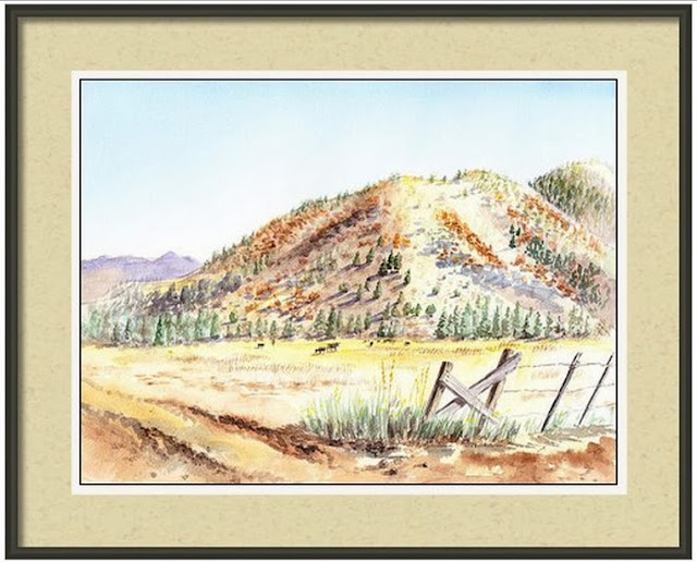 Shasta County Landscape painting realism in watercolor