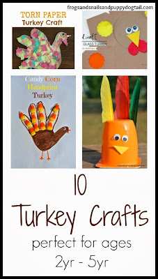 10 Turkey Crafts For Kids {ages 2yr -5yr} By FSPDT