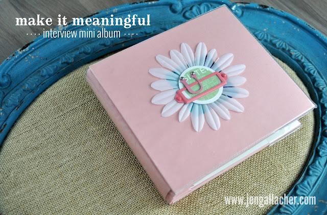 Interview Scrapbooking Mini Album by Jen Gallacher (includes video).