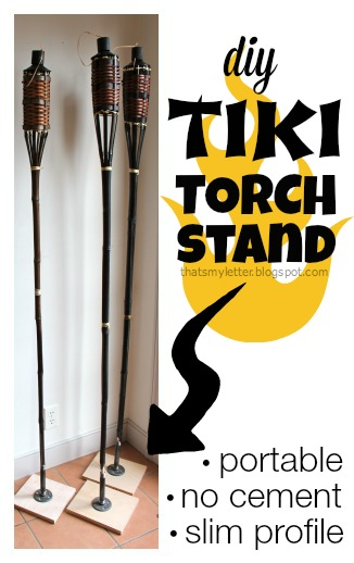 diy tiki torch stand portable