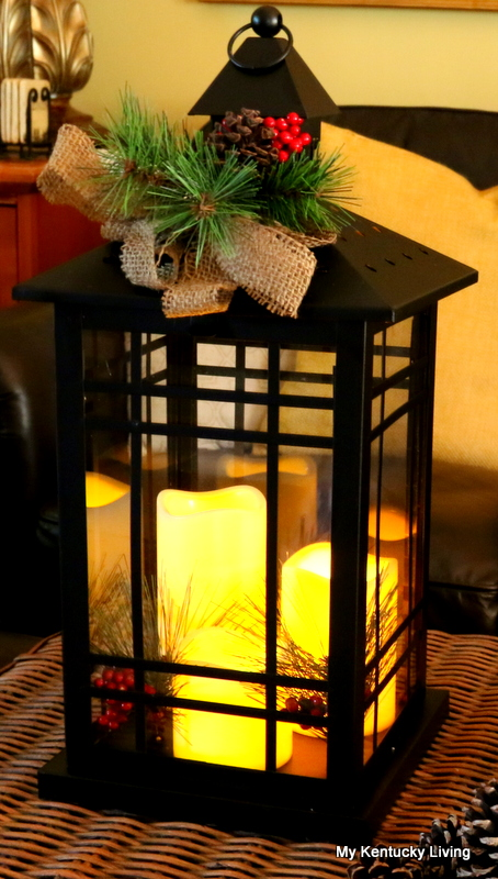 whether i put it on the coffee table or on the kitchen table it will give us a little bit of warm twinkling light