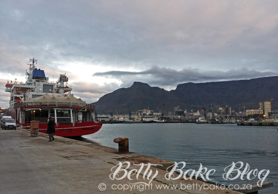 SA Agulhas II , Cape Town Harbour, V and A Waterfront, Table Mountain, Masters of the Trade Routes