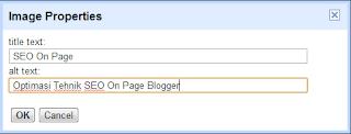 Memasang Title text dan Alt text pada image atau gambar