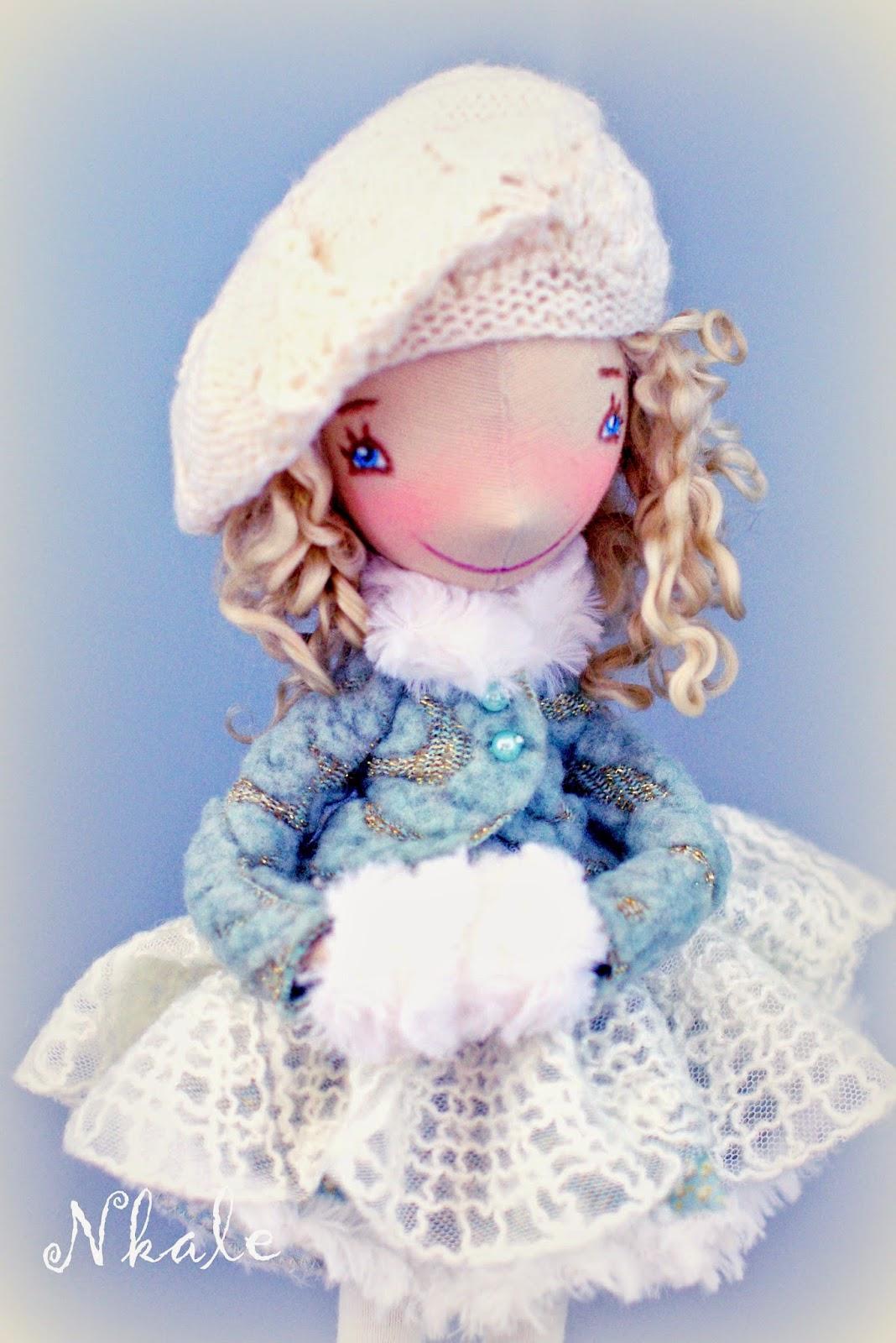 Текстильная кукла снегурочка своими руками
