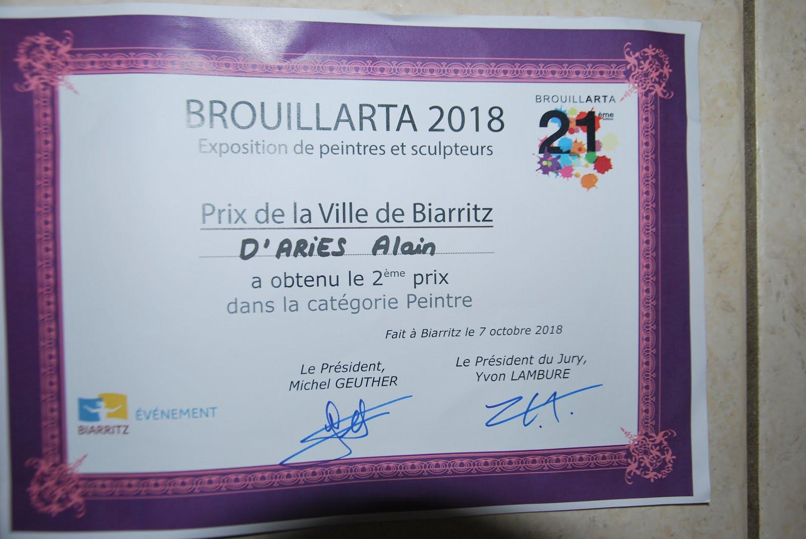 2è prix ville de Biarritz Brouillarta 2018