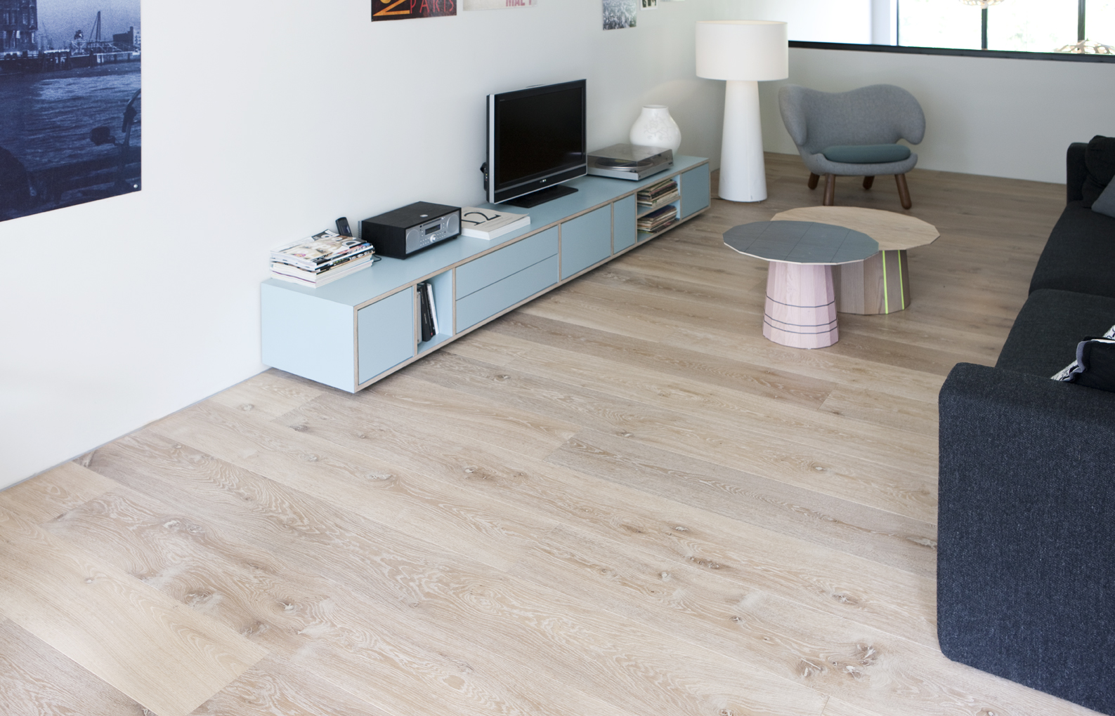 Woonkamer plank wit