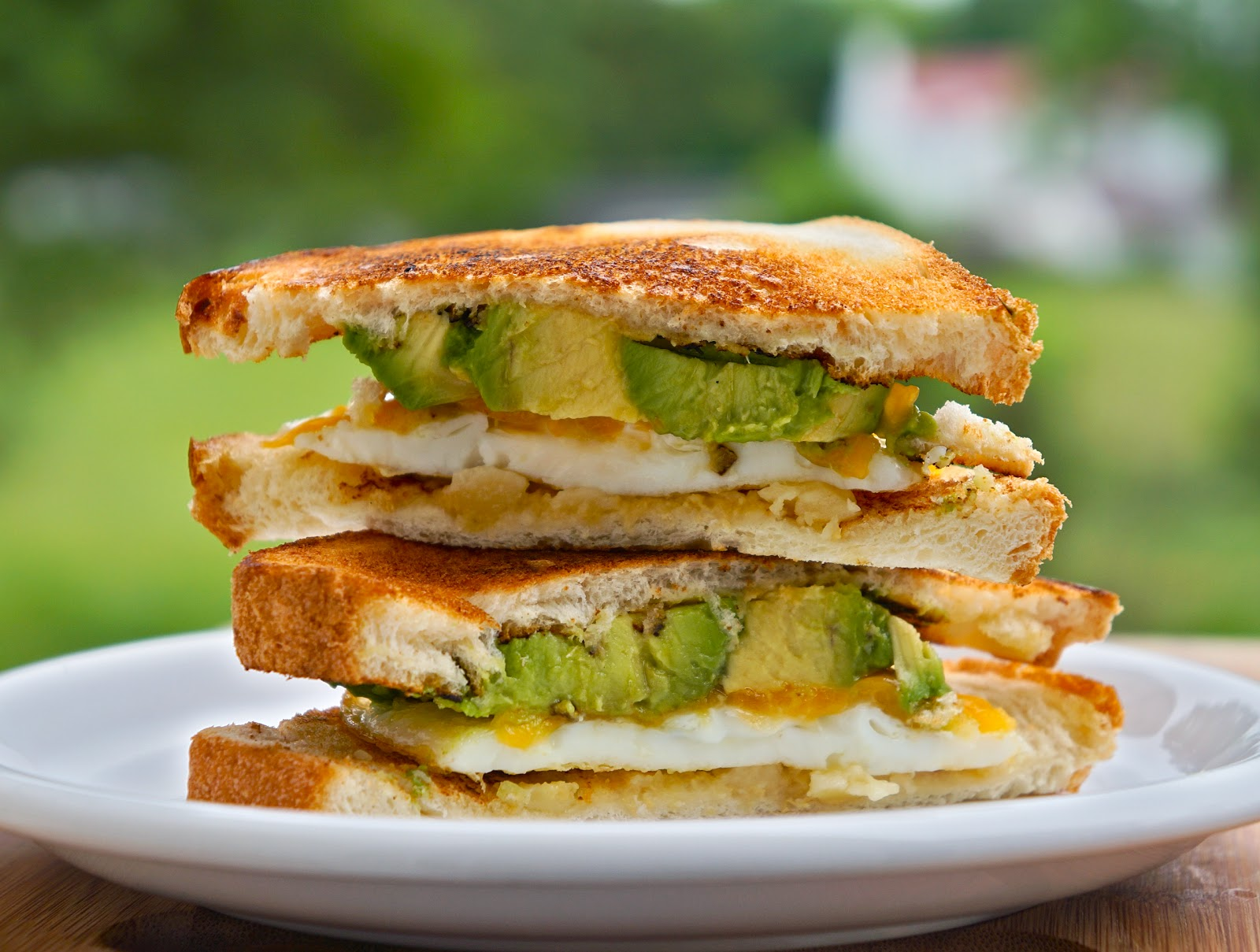 Rice and Coconut: fried egg cheese avocado sandwich