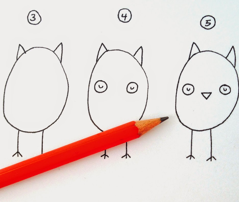 How to Draw Owls | Printable Tutorial | by Lady Lucas