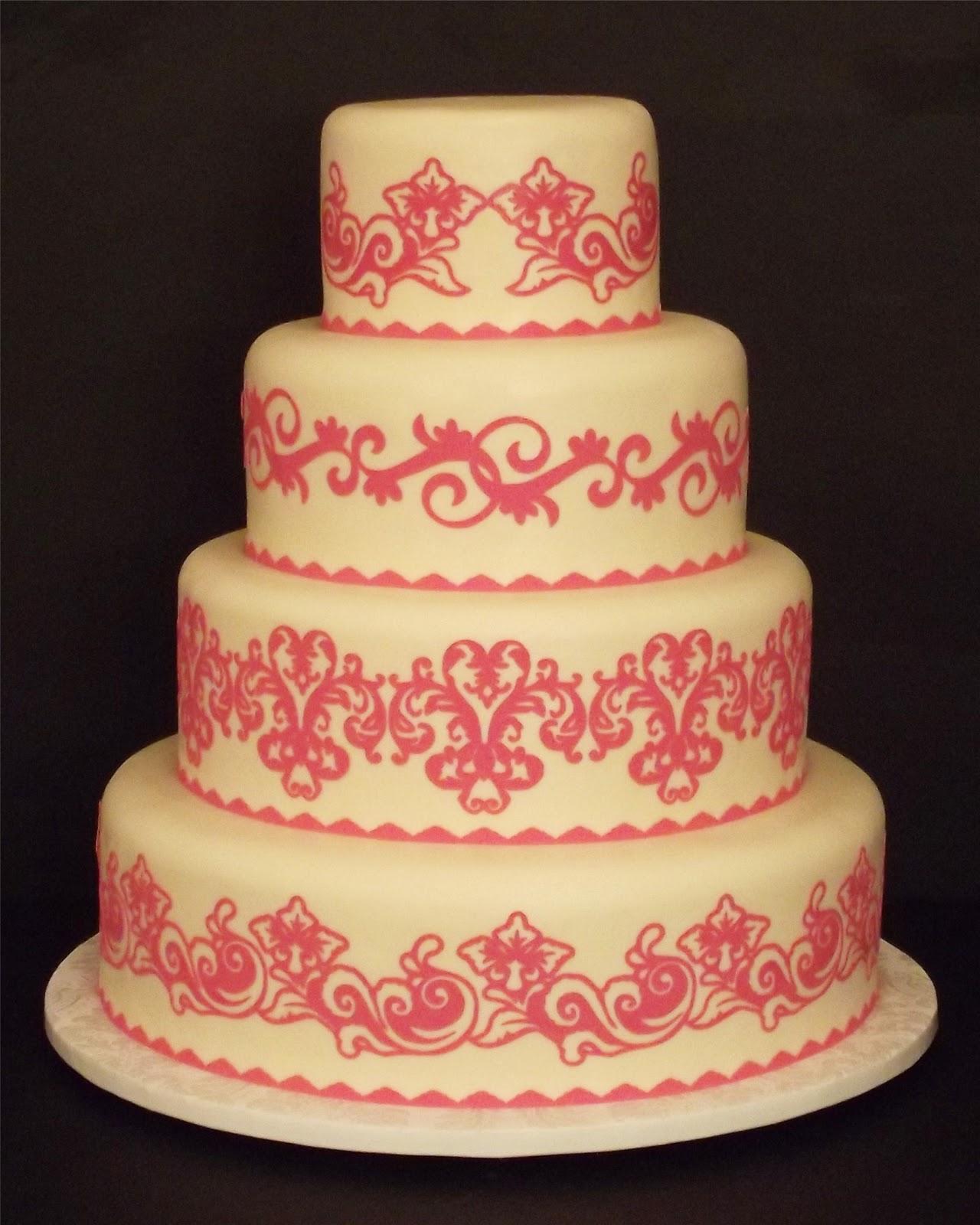 Creative Designs For Cakes: Pre-Cut Wedding Cake Designs