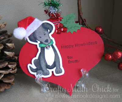 Labrador Santa pup tag by Crafty Math Chick | Fetching Friendship by Newton's Nook Designs