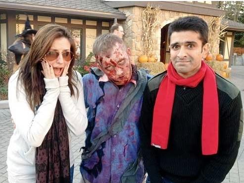 eijaz khan with girlfriend