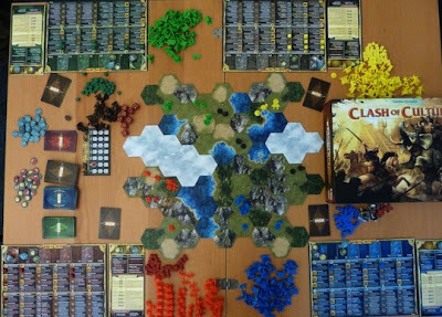 Clash of Cultures game in play