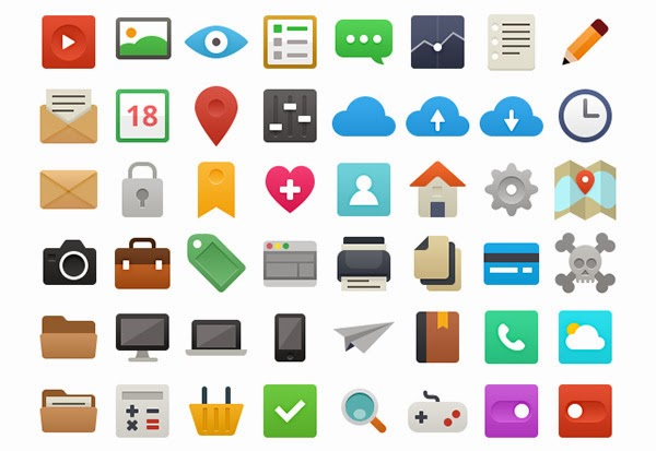 35+ Free and Flat Icon Sets