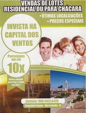 Vendas de Lotes em Marcolândia-PI