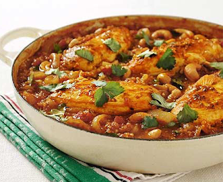 Spice chicken balti