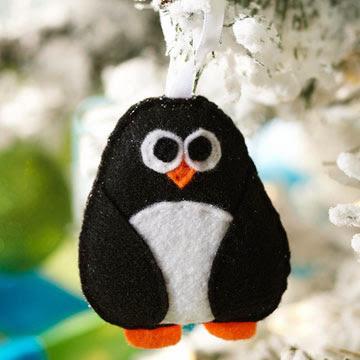 Felt Penguin Christmas tree