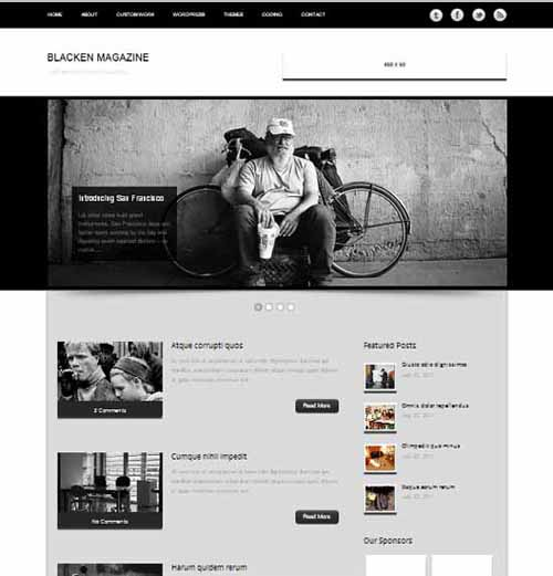 Free Blacken Magazine - Personal Blog Wordpress Theme