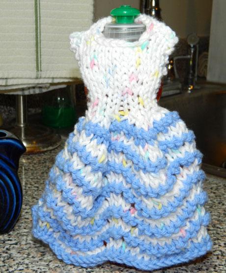 Knitting and Sewing My Way Through Life: Dishcloth Dresses Knitting Patterns ...