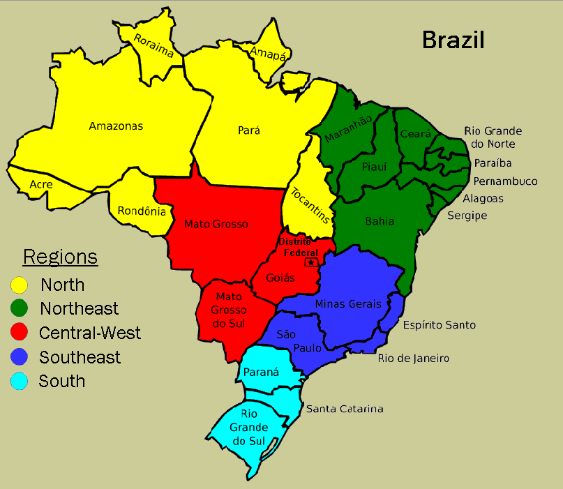 Brazil Business Tourism May 2013 – Brazil Tourist Attractions Map