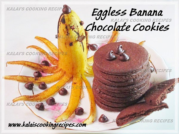 Easy Egg-less Morris Banana and Choco Chips Crispy Cookies Recipe