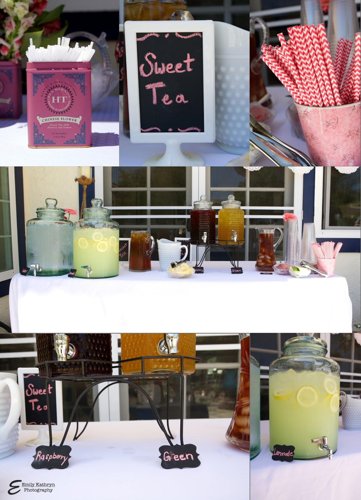 Tea Party Bridal Shower - with an iced tea and hot tea bar from www.thepinkflour.com